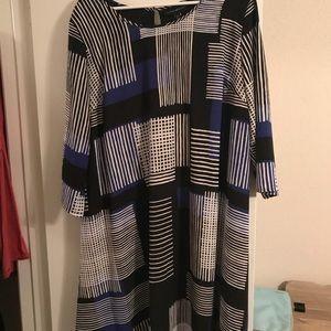Pattern shift dress
